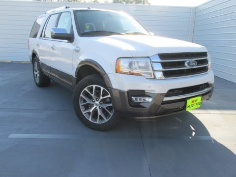 White Platinum Metallic Tri-Coat 2015 Ford Expedition King Ranch