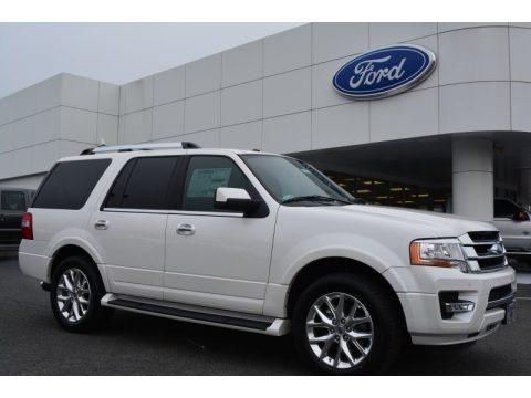 White Platinum Metallic Tri-Coat 2015 Ford Expedition Limited