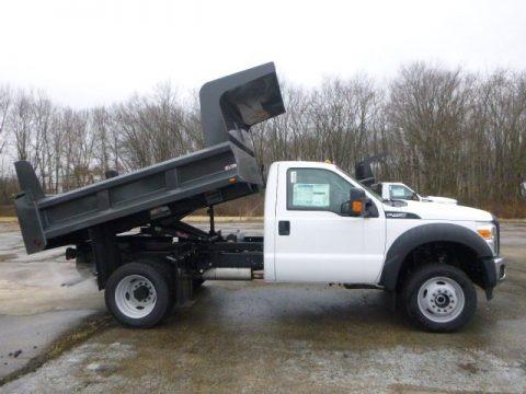 Oxford White 2015 Ford F450 Super Duty XL Regular Cab Dump Truck 4x4