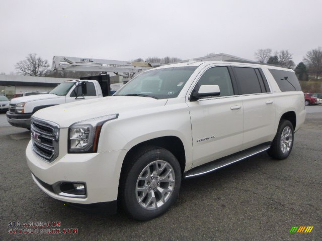 2015 gmc yukon xl slt 4wd in white diamond tricoat 529835 all american automobiles buy. Black Bedroom Furniture Sets. Home Design Ideas
