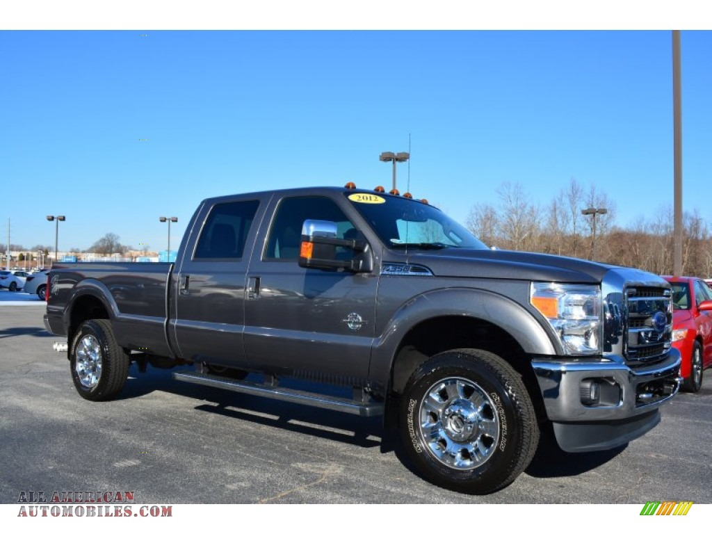 2012 ford f350 super duty lariat crew cab 4x4 in sterling grey metallic b76670 all american. Black Bedroom Furniture Sets. Home Design Ideas