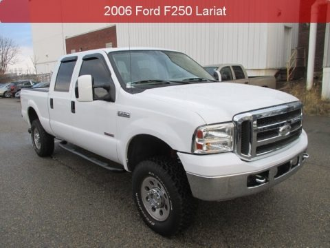 Oxford White 2006 Ford F250 Super Duty Lariat Crew Cab 4x4