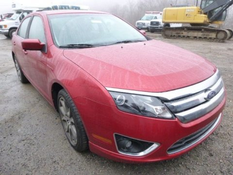 Red Candy Metallic 2011 Ford Fusion SE