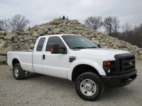 Oxford White 2008 Ford F250 Super Duty XL SuperCab 4x4