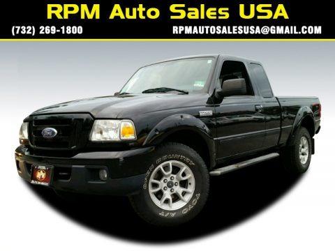 Black 2007 Ford Ranger Sport SuperCab 4x4